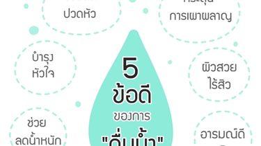 8 ข้อดีของการดื่มน้ำ สุขภาพดีแถมผิวใส