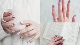 รวมไอเดียแต่งเล็บ เทา-เงิน ฉบับเมทัลลิค (Metallic nails) เรียบง่ายแต่สวยสะท้อน!