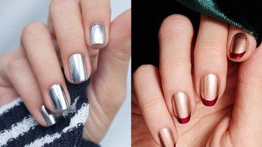 ไอเดียทาเล็บสีเงิน สีทอง เมทัลลิค Metallic nails เล็บสวย เริ่ด ชิค คลาสสิค ลงตัว!