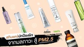 PM2.5 ทำหน้าพัง! รวมสกินแคร์กันมลภาวะ