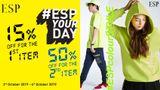สายแฟรีบคว้า! คอลเลคชั่นนีออน ESP YOUR DAY พร้อมโปรเด็ด ชิ้นที่ 2 ลดอีก 50% !!
